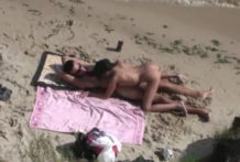 Pareja de chilenos follando en la playa