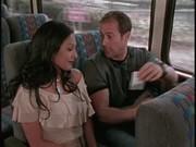 Follando en el autobus que rico chupar teta