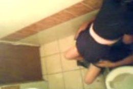 Cachada en el baño